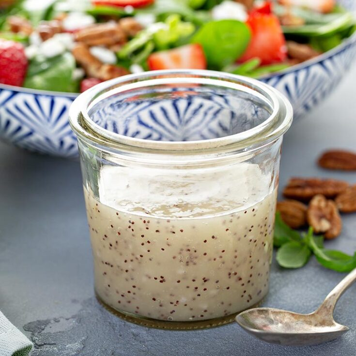 Honey-poppyseed dressing is an absolute favourite, including kids! It helps any salad shine, particularly with there's fruit or nuts involved.