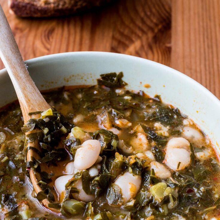 Cranberry Bean & Kale Soup